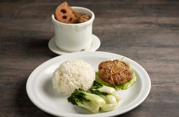 Soup Restaurant Hand-Chopped Meat Patty Bento
