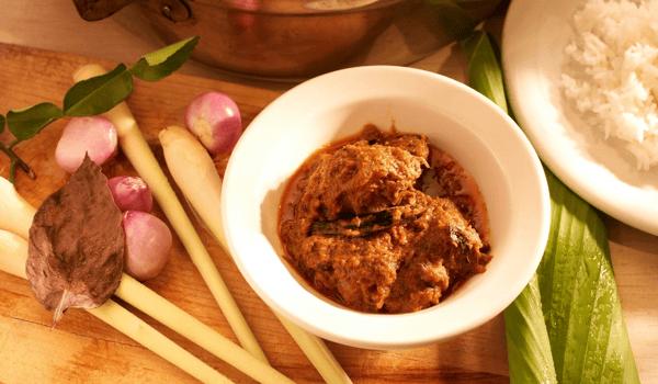 Beef Rendang Nasi Campur Bento Delivery