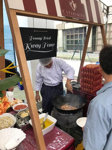 Penang Culture's Corporate Catering Live Stations - Char Kway Teow